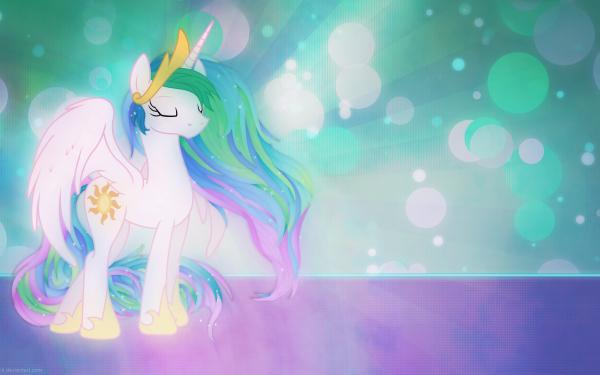 TV Show My Little Pony: Friendship is Magic My Little Pony Princess Celestia Vector HD Wallpaper | Background Image