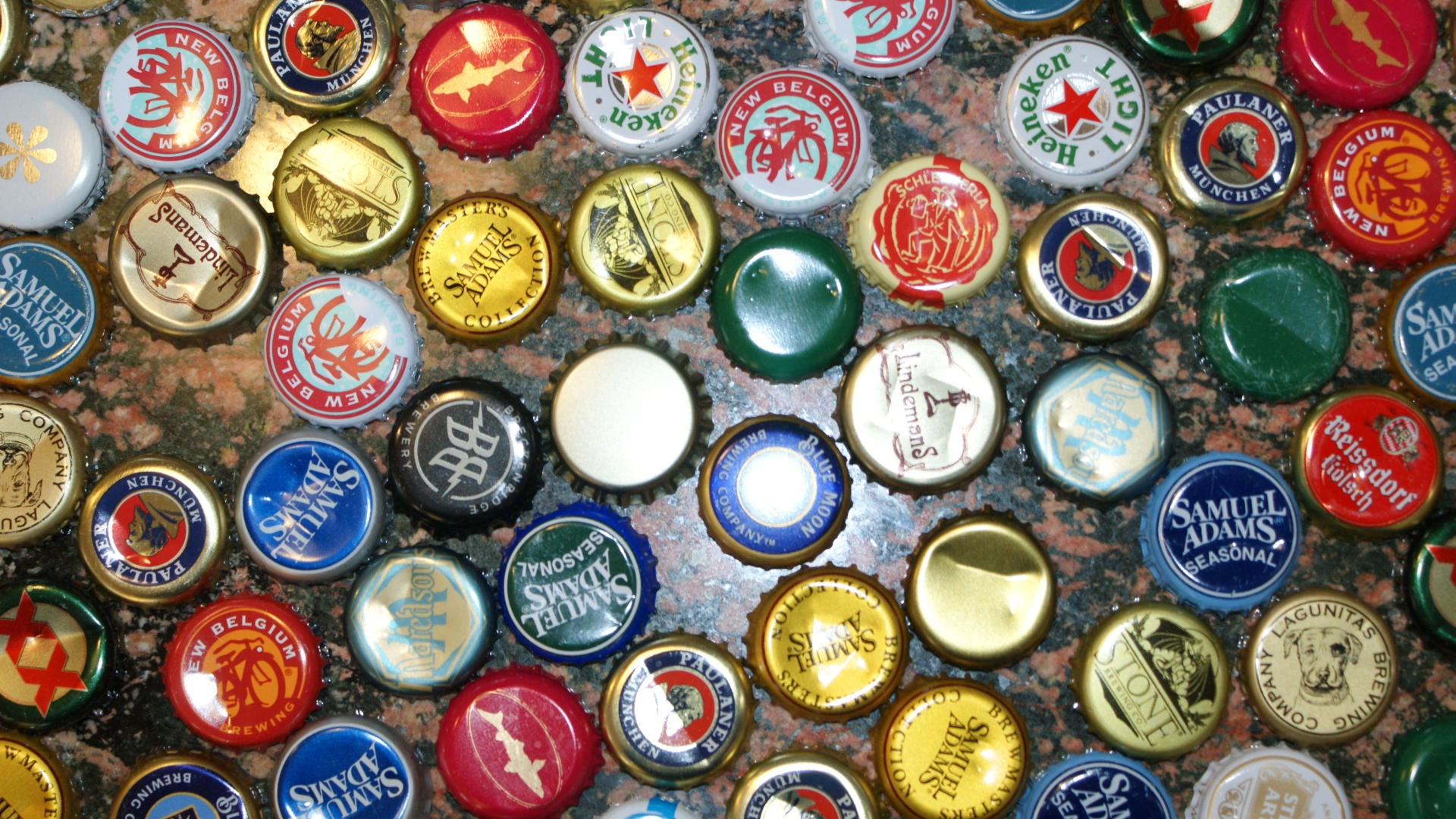 Beer bottle caps full hd wallpaper and background for Bottle cap wall