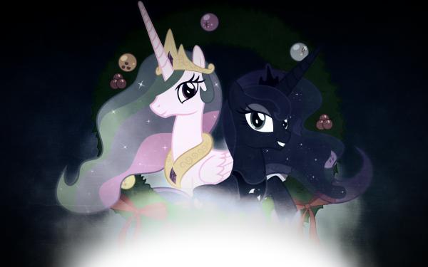 TV Show My Little Pony: Friendship is Magic My Little Pony Princess Celestia Princess Luna Vector HD Wallpaper   Background Image