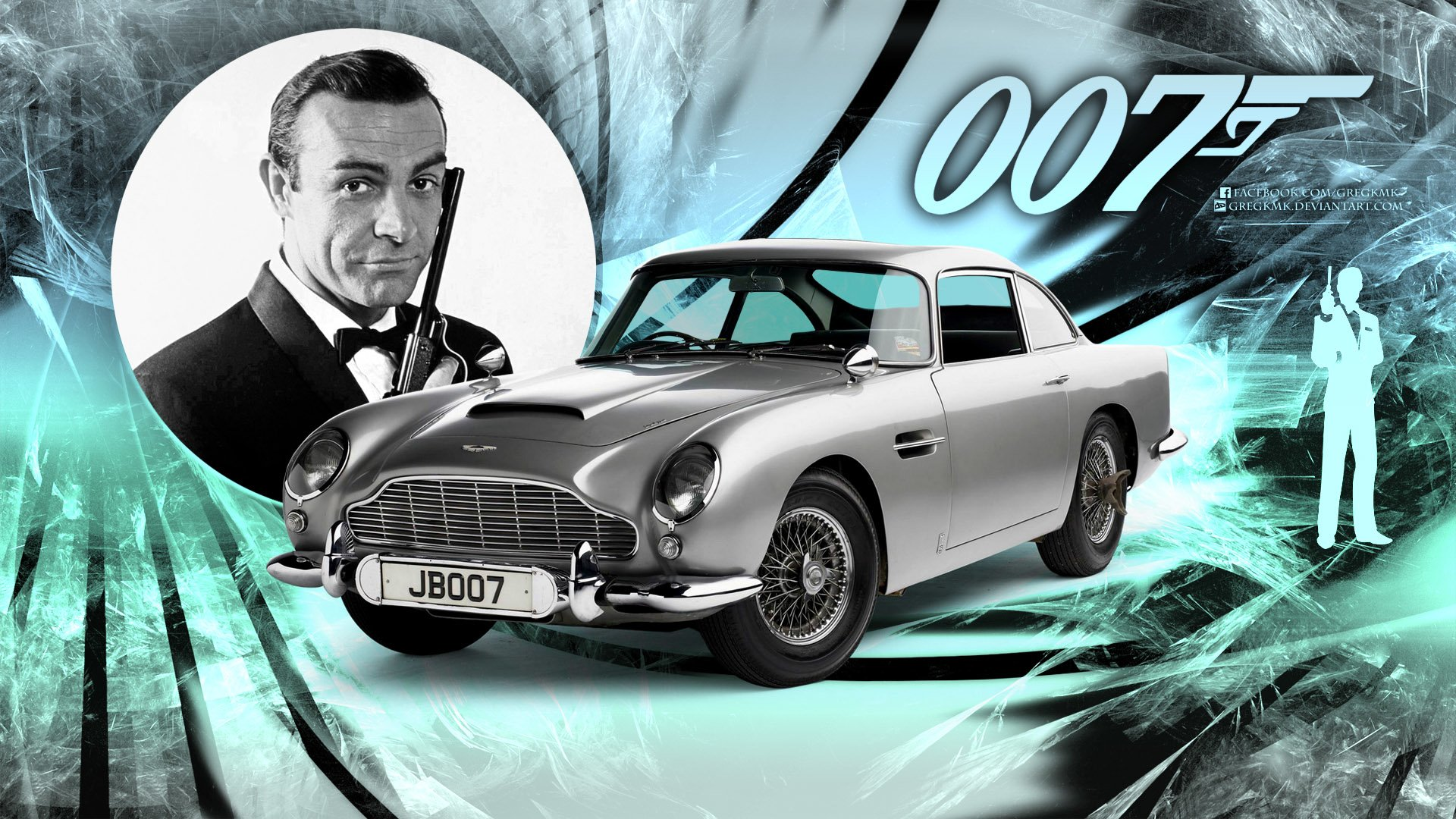 Movie - James Bond  007 Sean Connery Aston Martin Db5 Wallpaper