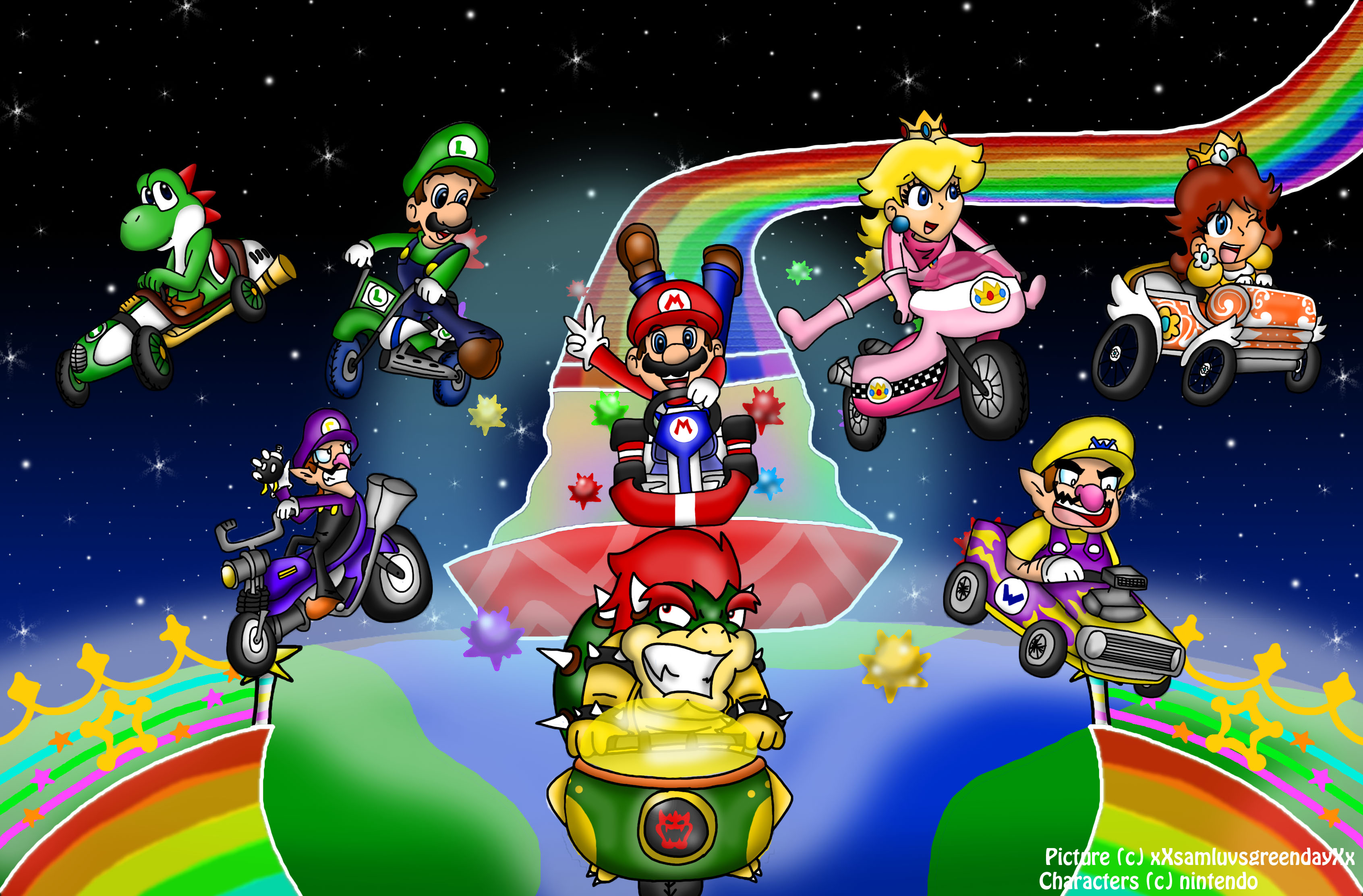 68 Mario Kart Wii Hd Wallpapers Background Images Wallpaper Abyss