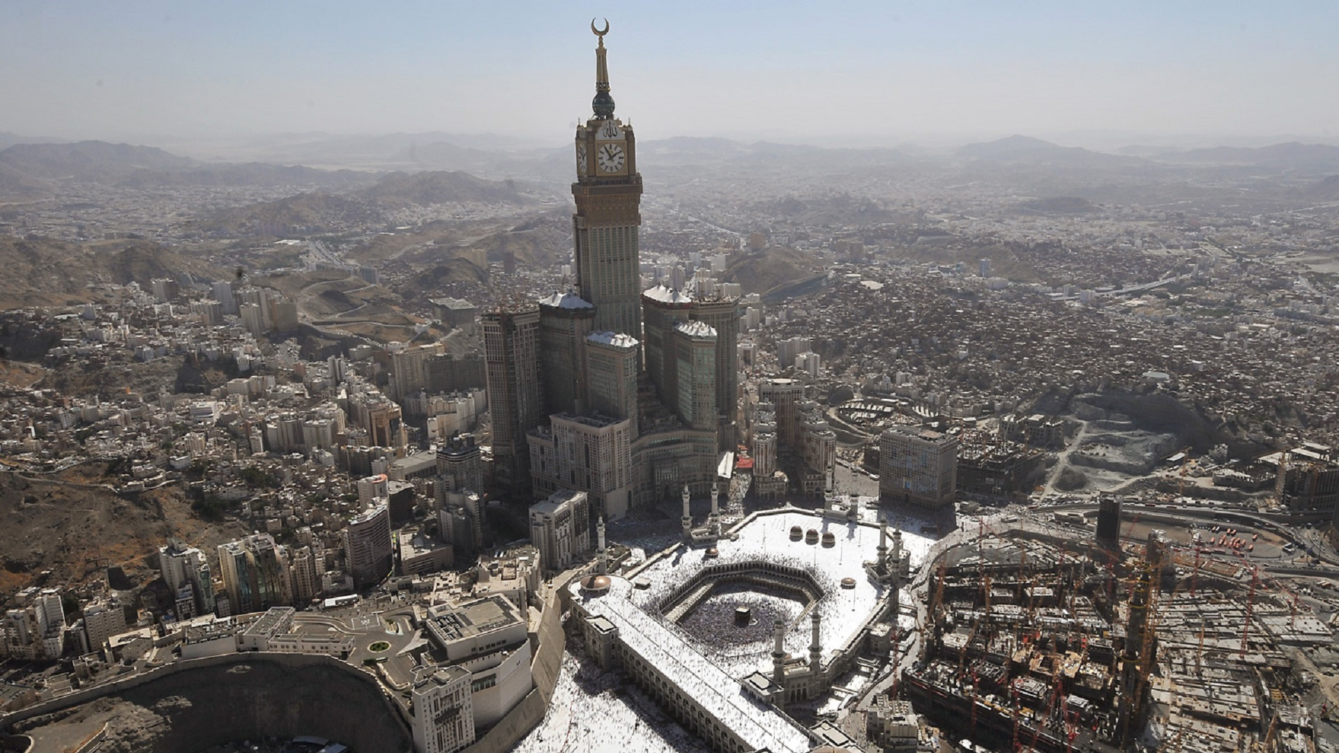 Mecca Clock Tower Hd Wallpaper Background Image 1920x1080 Id 497483 Wallpaper Abyss