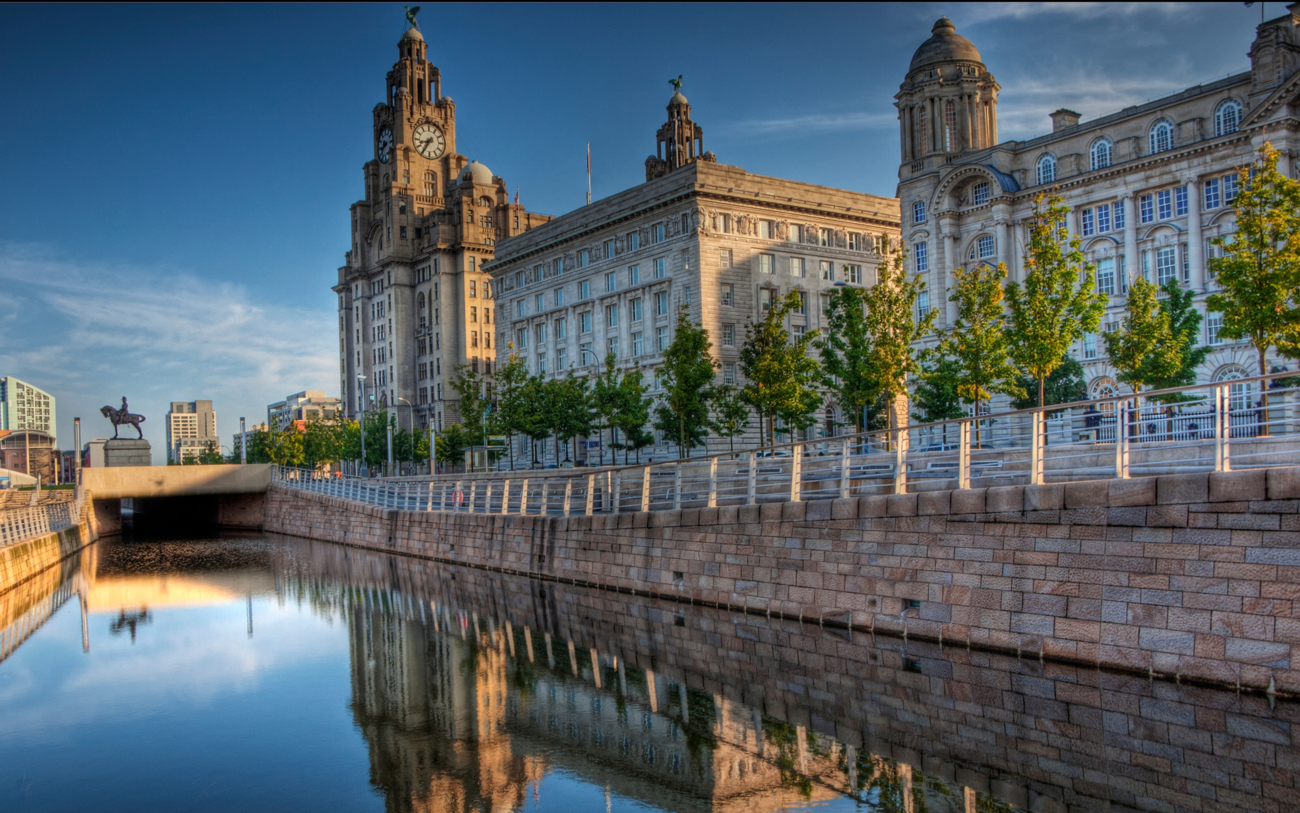 The Three Graces In Liverpool Hd Wallpaper Background Image 2560x1600 Id 500241 Wallpaper Abyss