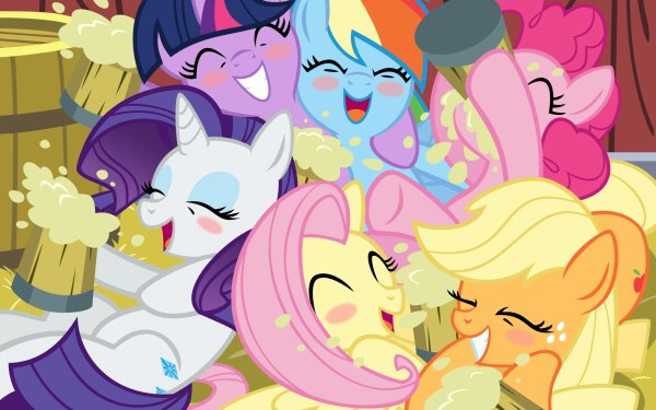 TV Show My Little Pony: Friendship is Magic My Little Pony Applejack Twilight Sparkle Fluttershy Rarity Pinkie Pie Rainbow Dash HD Wallpaper | Background Image