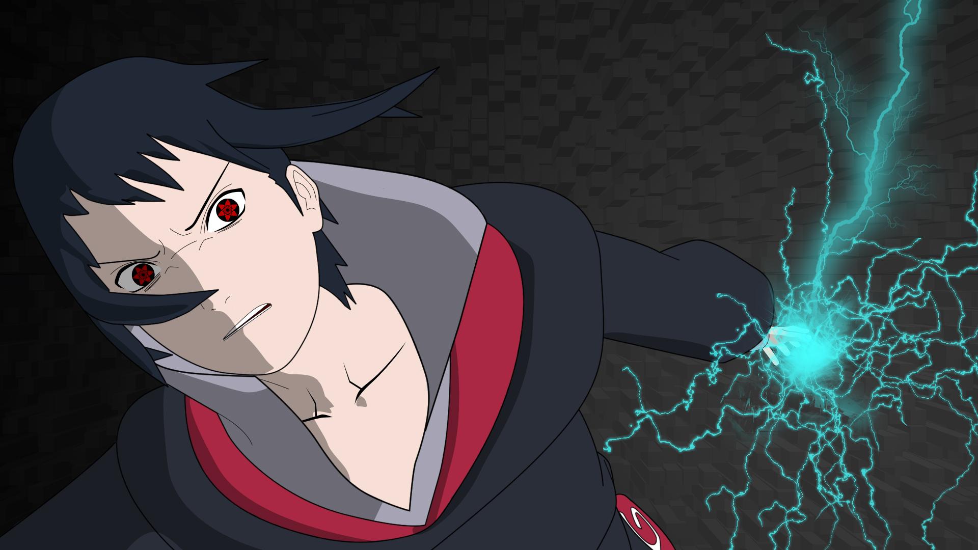 Naruto - Akatsuki Chidori Sasuke HD Wallpaper   Background Image   1920x1080   ID:504957 ...