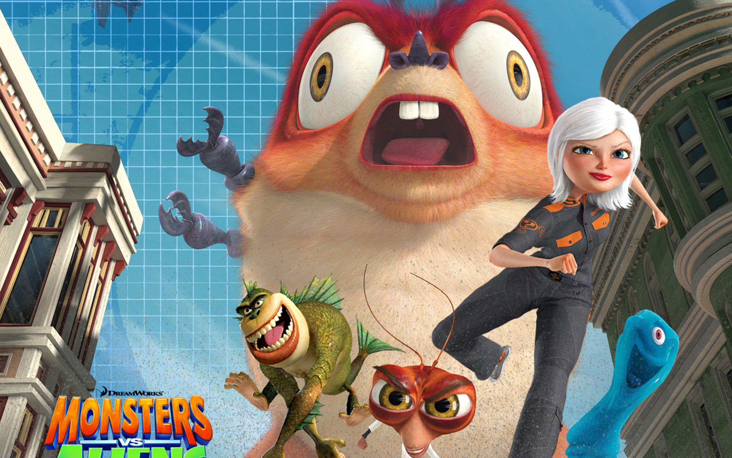 monsters vs aliens full hd wallpaper and background image