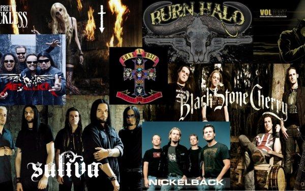 Music Crossover Saliva Nickelback Burnhalo Rock HD Wallpaper | Background Image