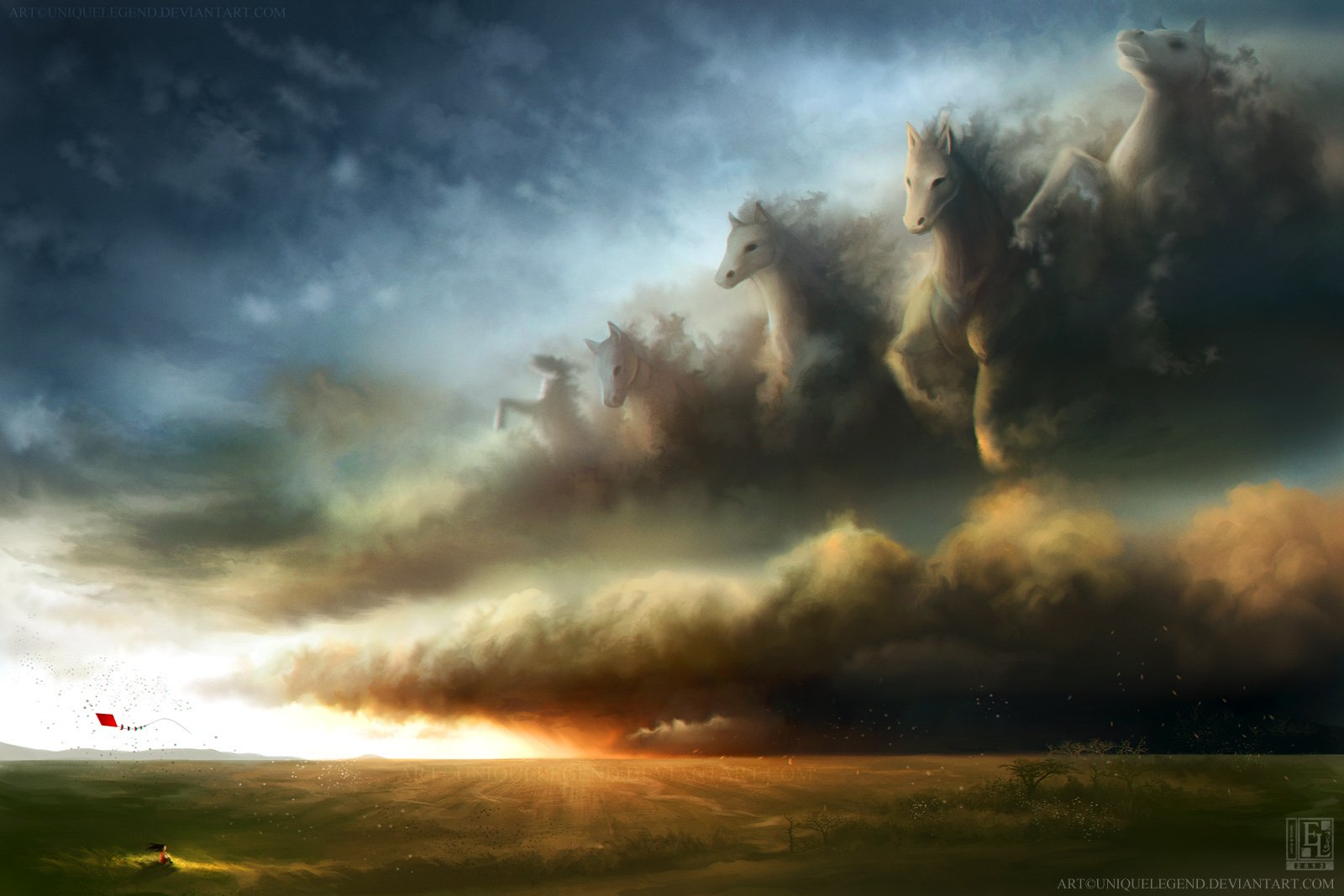 galloping storm wallpaper and background image 1600x1067