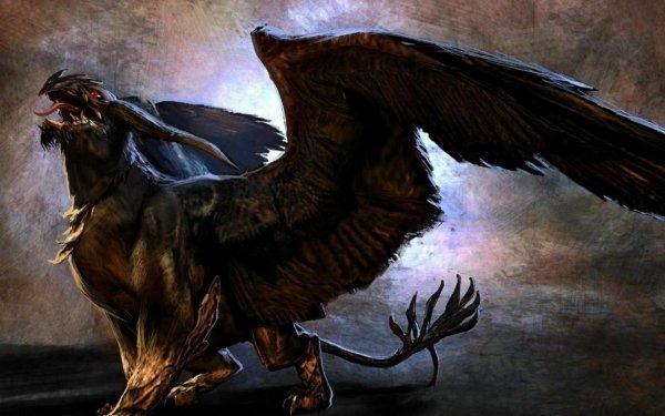Fantaisie Griffon Animaux Fantastique Créature Fond d'écran HD | Arrière-Plan