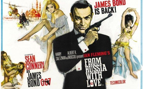 Movie From Russia With Love Sean Connery Daniela Bianchi James Bond Tatiana Romanova HD Wallpaper | Background Image
