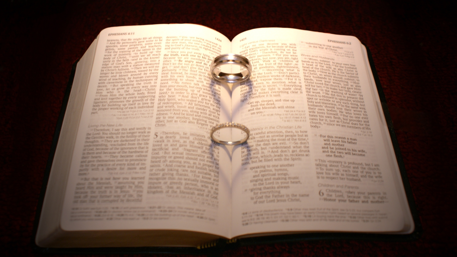 Wedding Rings In Bible Full HD Wallpaper and Background ...