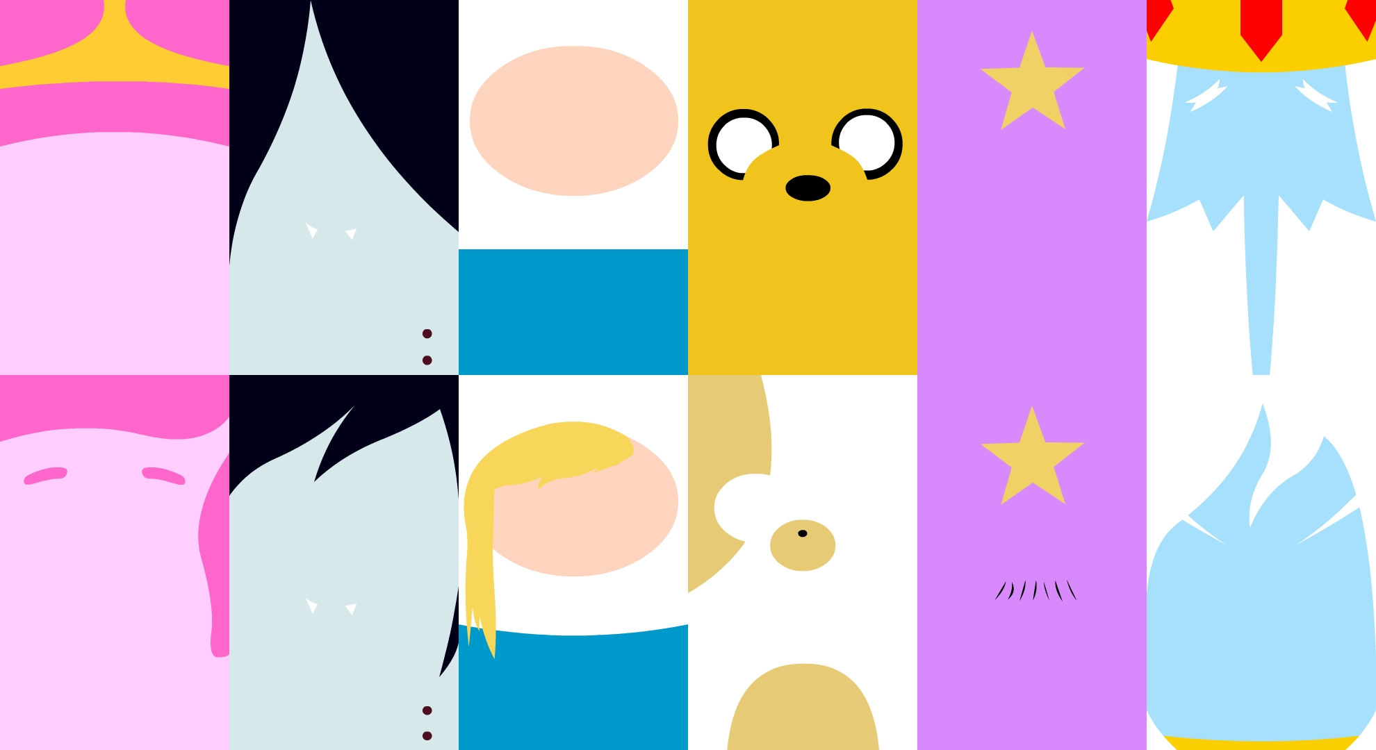 Adventure Time Cast Full HD Bakgrund And