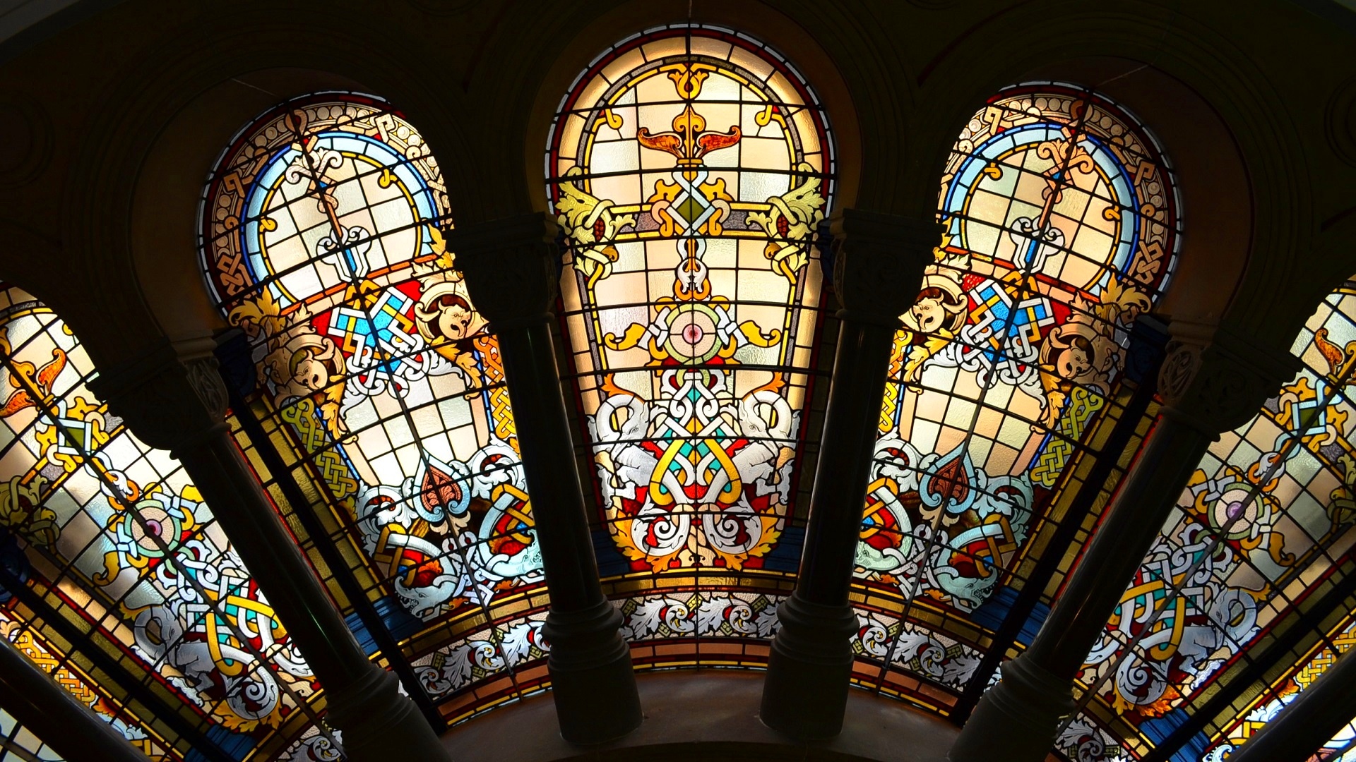 Stained Glass Window Wallpaper