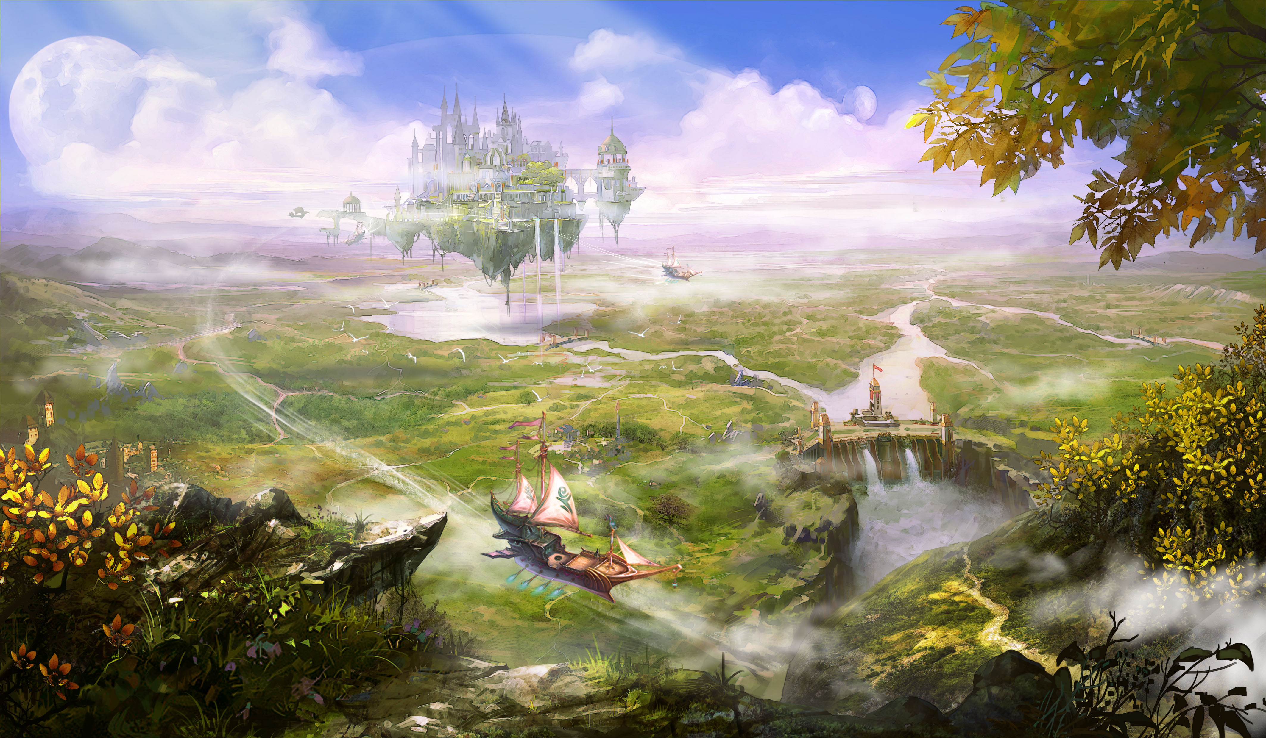 Landscape 4k ultra hd wallpaper and background image - Fantasy scenery wallpaper ...