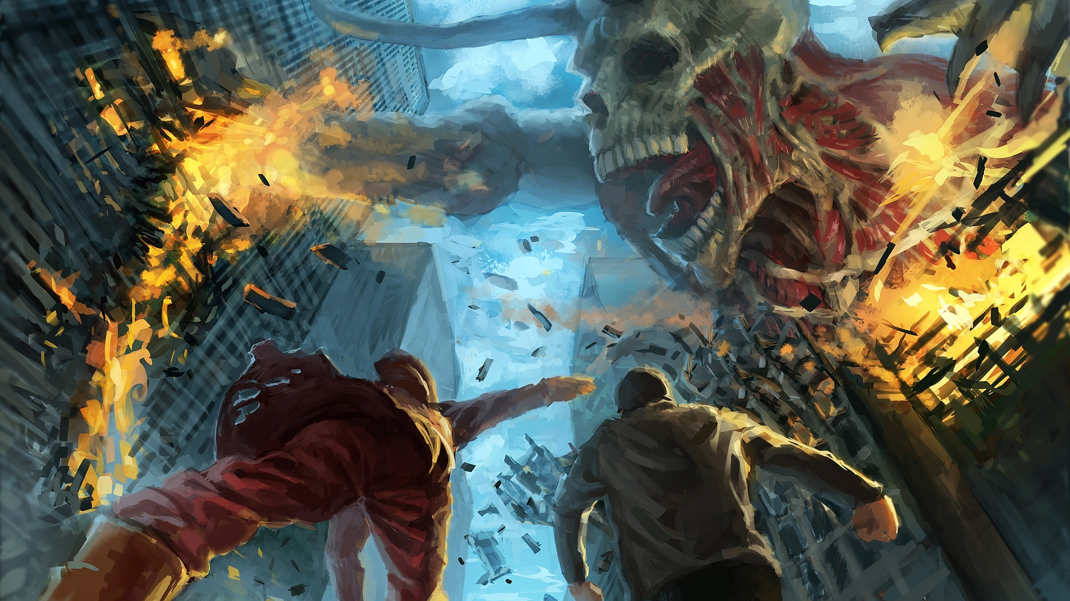 L'Attaque des Titans Fond d'écran HD   Arrière-Plan   2200x1237   ID:517949 - Wallpaper Abyss