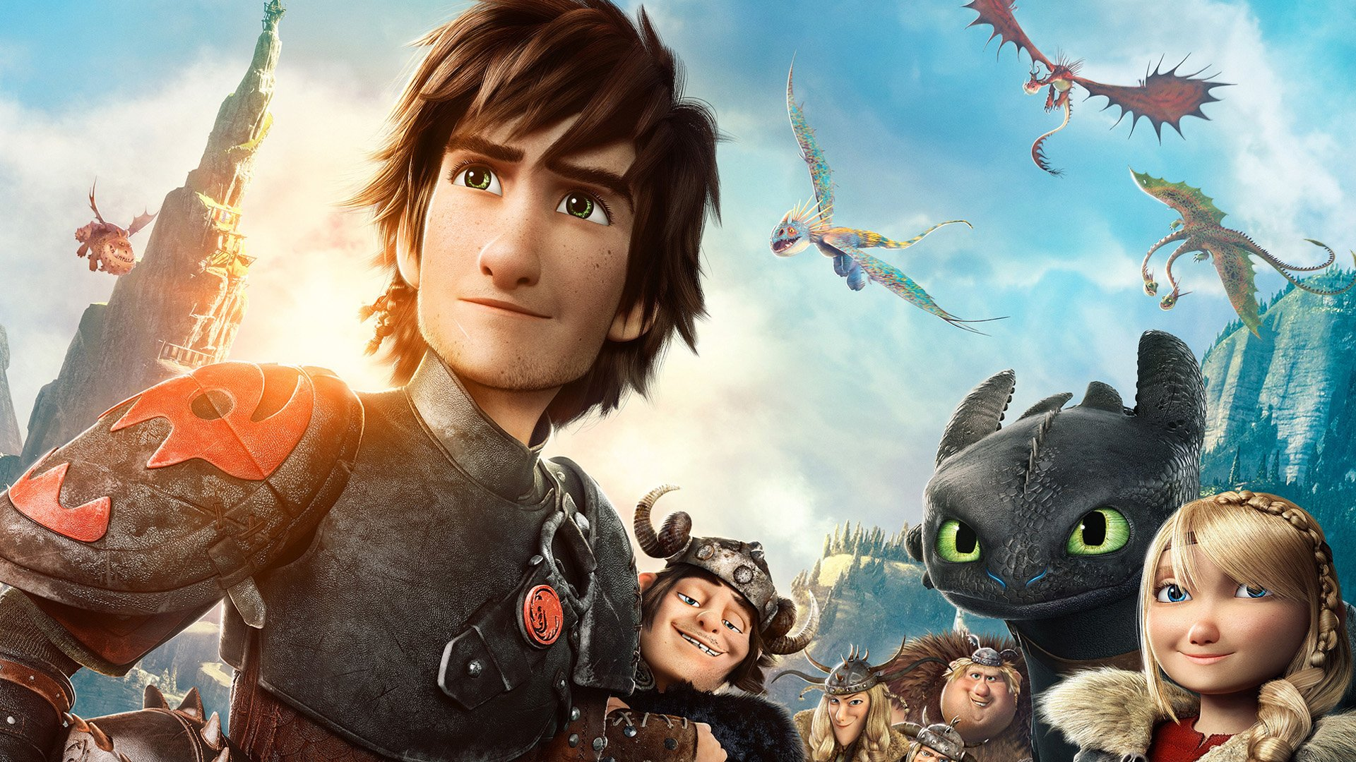 Hiccup How To Train Your Dragon 2 Toothless Valka HD Wallpaper