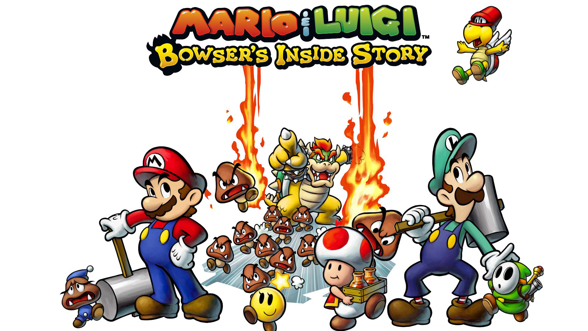 Mario Luigi Bowser S Inside Story Hd Wallpaper