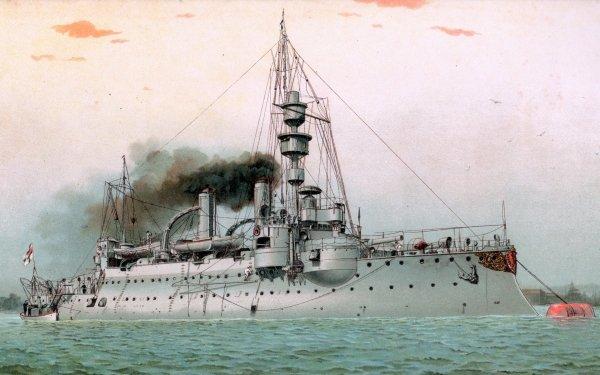 Military German Navy Warships Coastal Defence Ship SMS Odin HD Wallpaper | Background Image