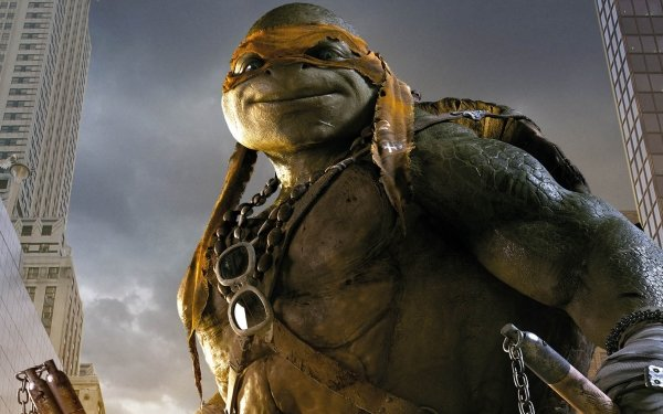 Movie Teenage Mutant Ninja Turtles (2014) Teenage Mutant Ninja Turtles Michelangelo HD Wallpaper | Background Image