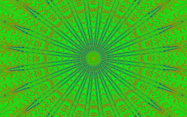 Abstract Green Colors Kaleidoscope HD Wallpaper   Background Image
