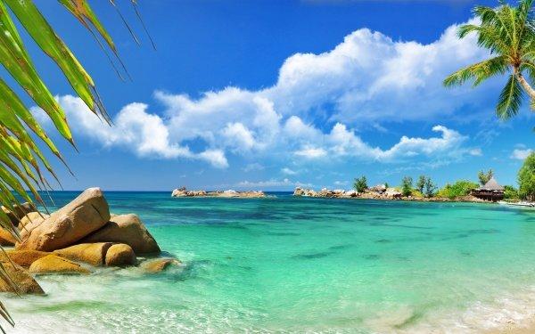 Tierra/Naturaleza Tropico Lagoon Seychelles Playa Fondo de pantalla HD | Fondo de Escritorio