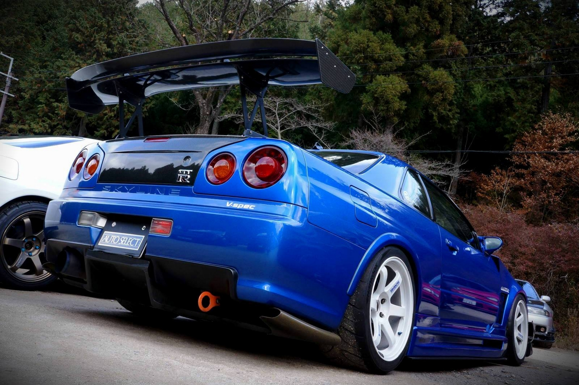 Nissan Skyline R34 Full HD Wallpaper And Background Image