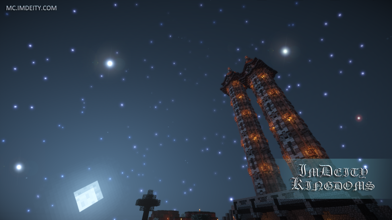 Video Game - Minecraft  Tower Building Night Sky Wallpaper