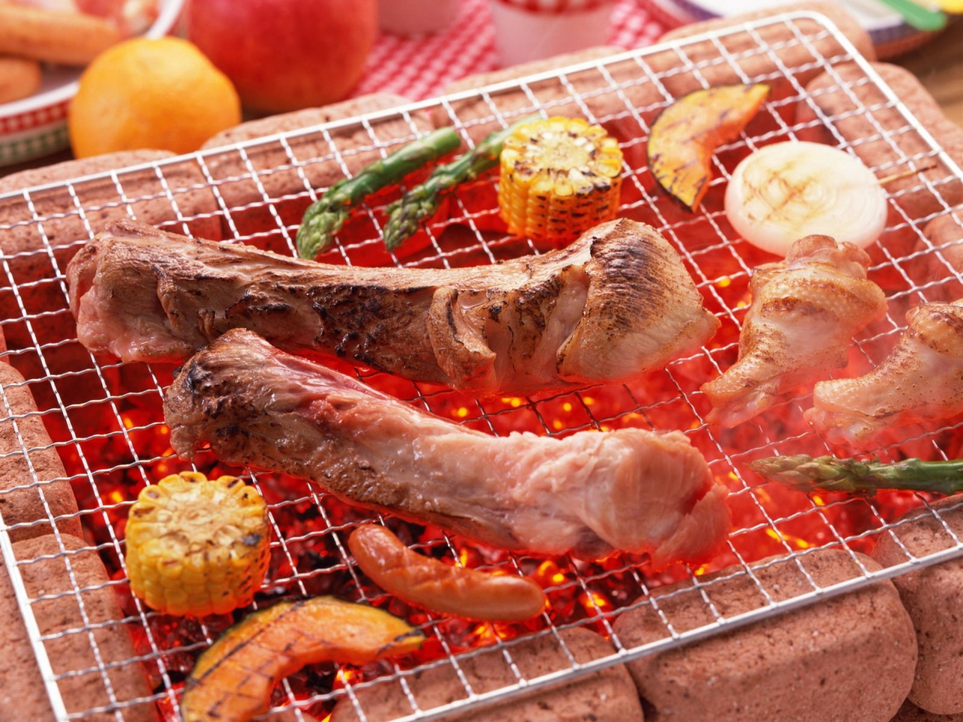 Food - Barbecue  Food Meat Lunch Chicken Pork Meal Wallpaper