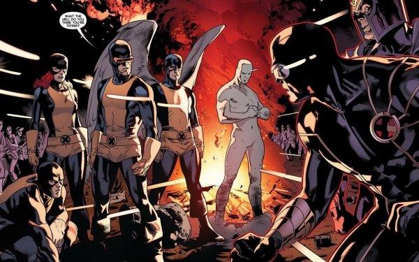 Comics All New X-Men X-Men Cyclops Warren Worthington III Magneto Jean Grey Iceman Angel Beast Marvel Girl HD Wallpaper | Background Image