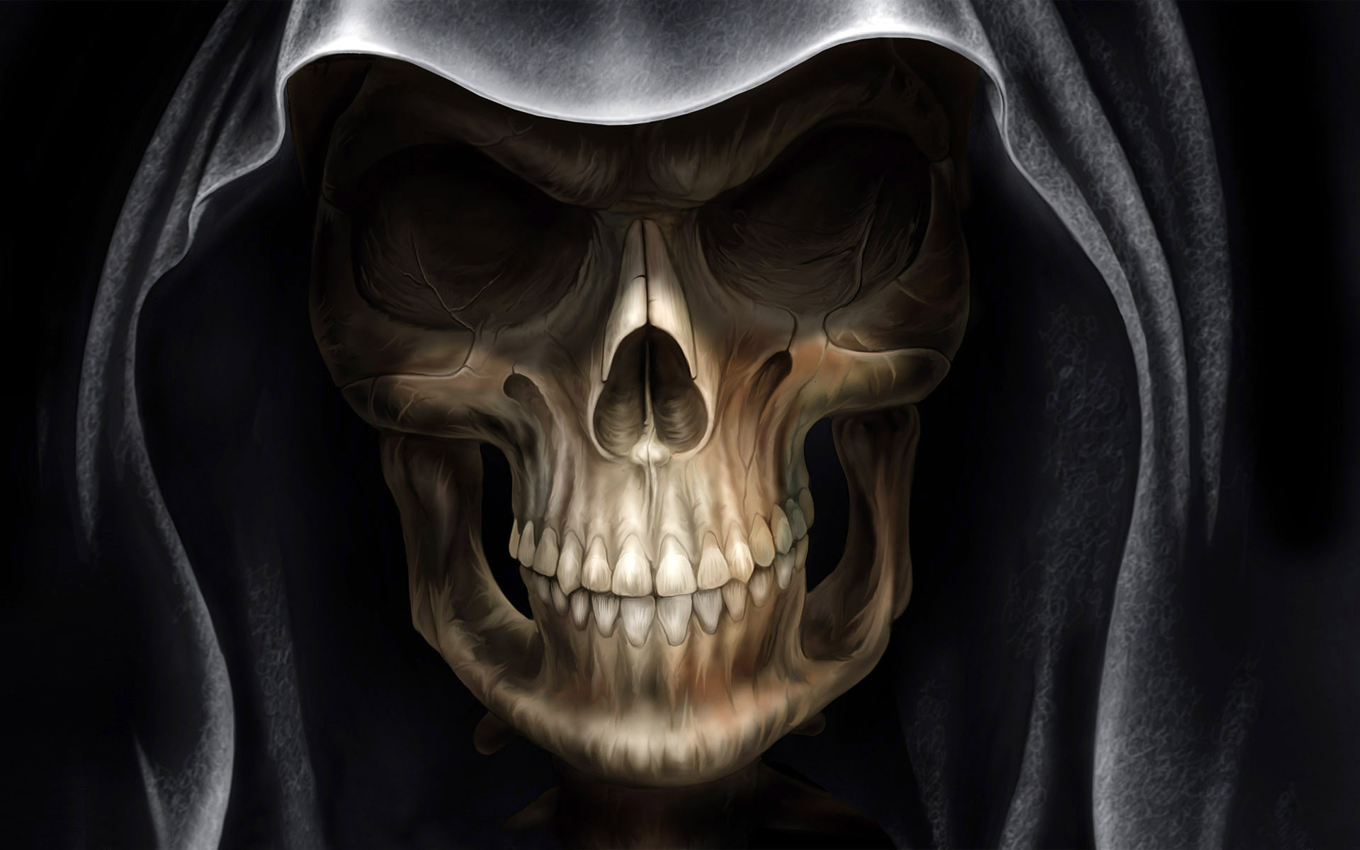 Тьма - мрачный жнец  Череп Эмо Готические Death Обои