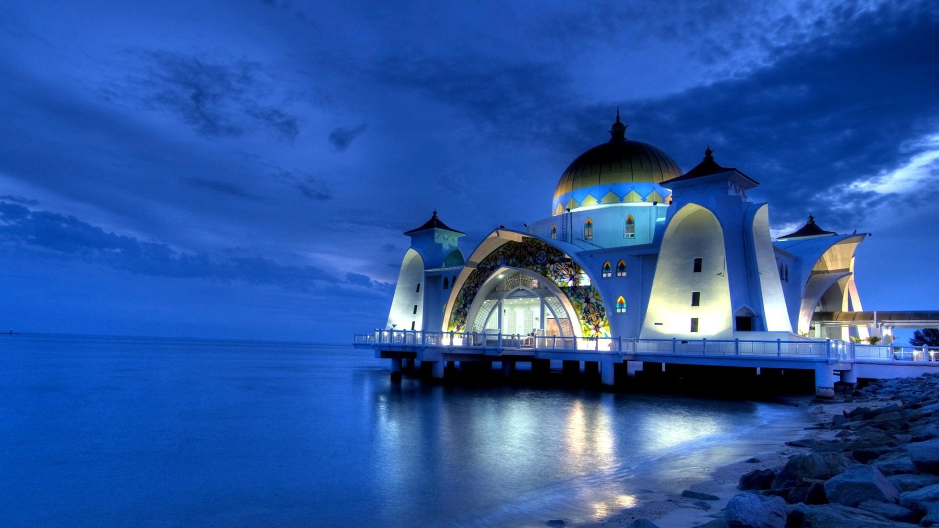 Masjid Selak Melaka Hd Wallpaper Background Image