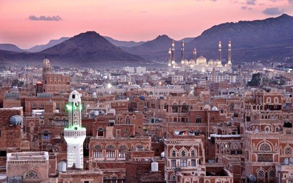 Man Made Sana'a Cities Yemen Al Saleh Mosque Minaret HD Wallpaper | Background Image