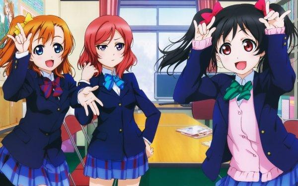 Anime Love Live! Maki Nishikino Nico Yazawa Honoka Kousaka Fond d'écran HD | Arrière-Plan
