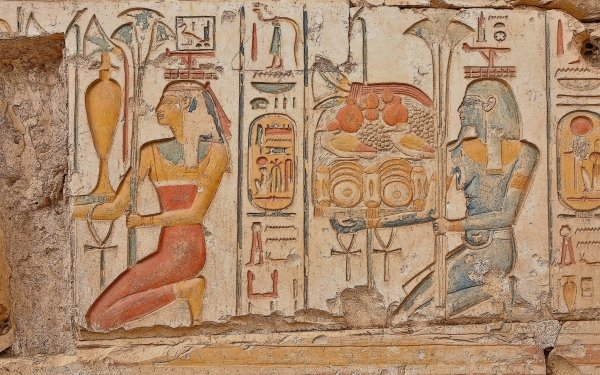 Man Made Egyptian Egypt Carvings Old HD Wallpaper | Background Image