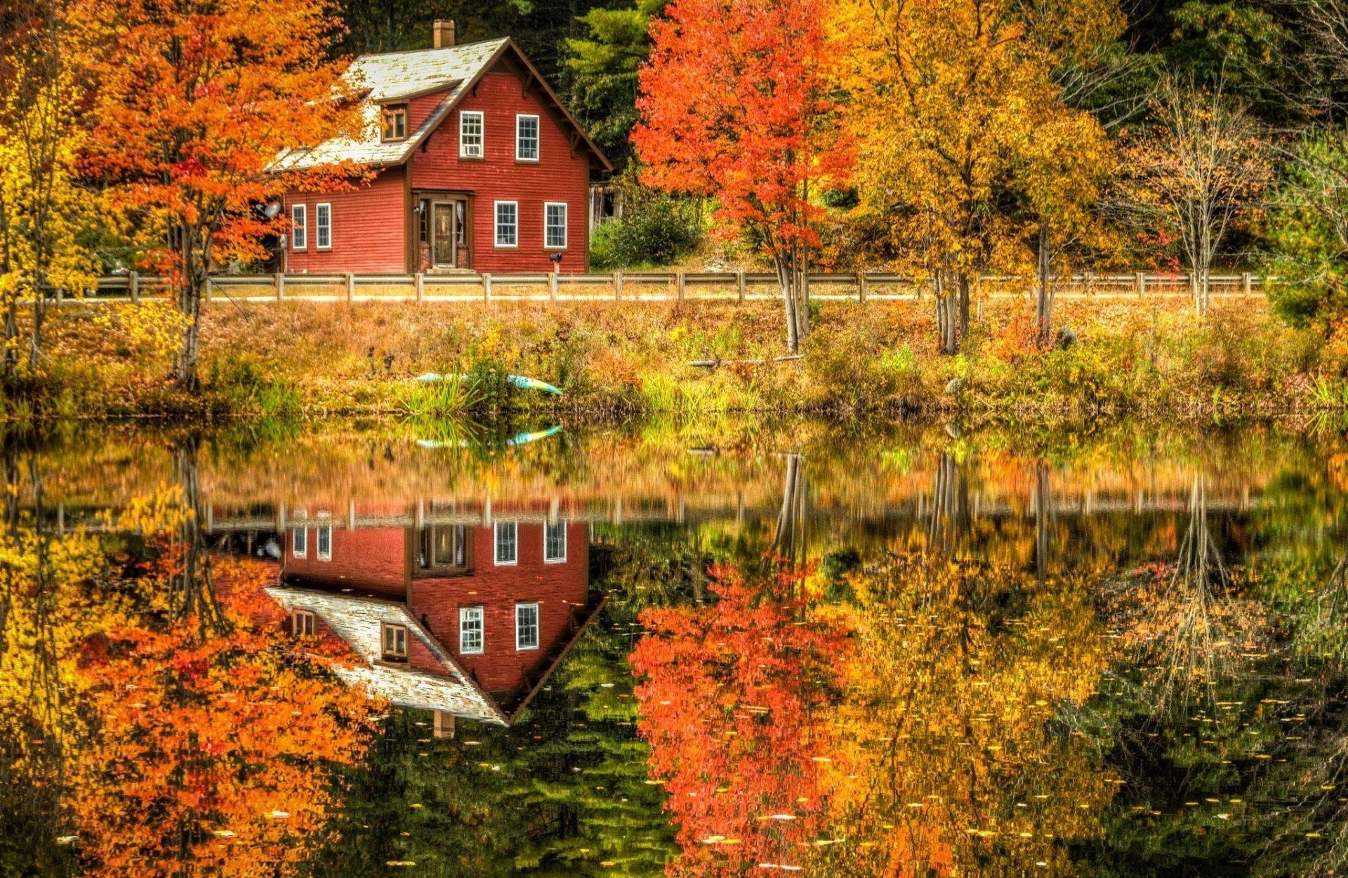 Осень в деревне фото деревенского пейзажа фотография