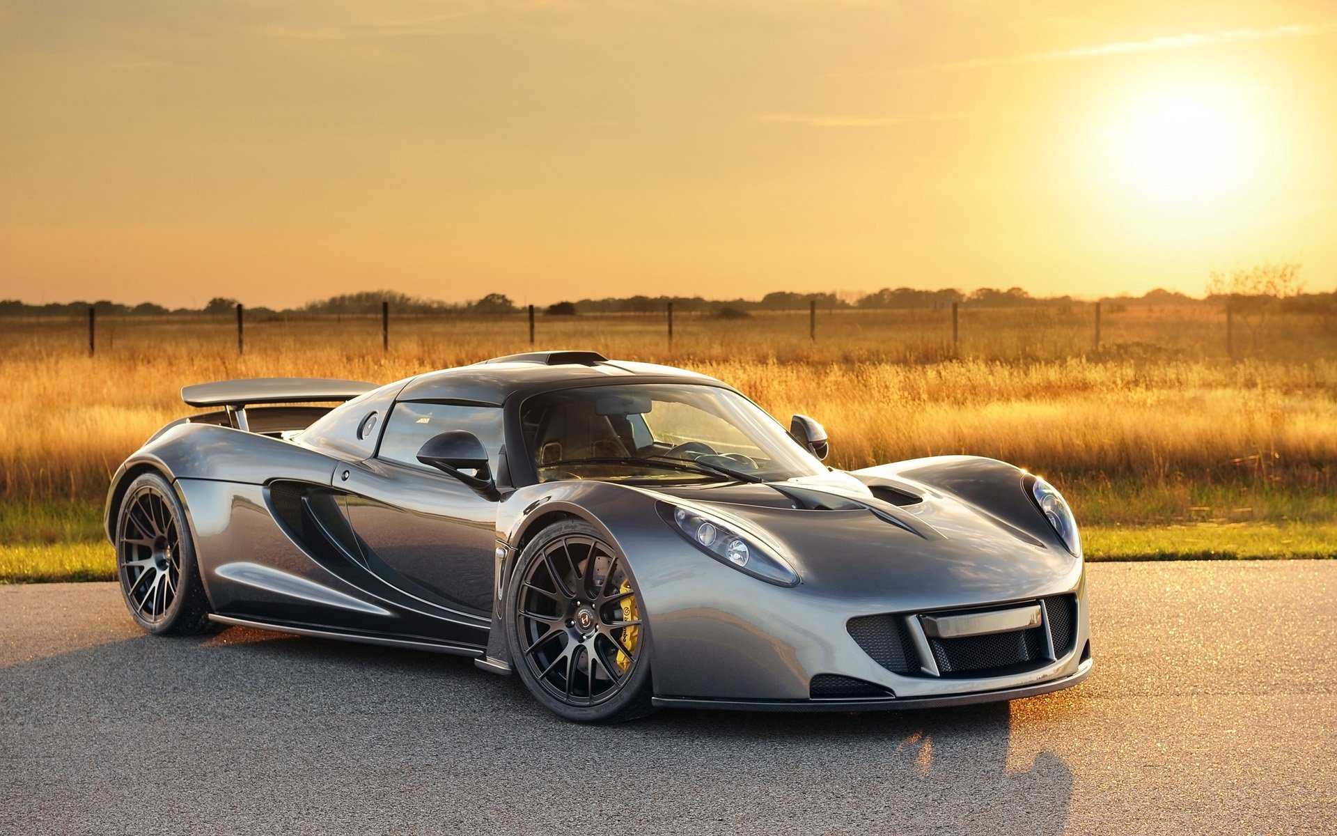 Vehicles - Hennessey Venom GT  Hennessey Car Supercar Vehicle Silver Car Wallpaper