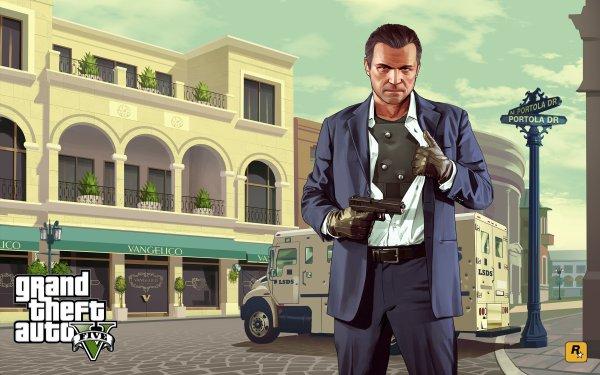 Video Game Grand Theft Auto V Grand Theft Auto Michael De Santa HD Wallpaper | Background Image