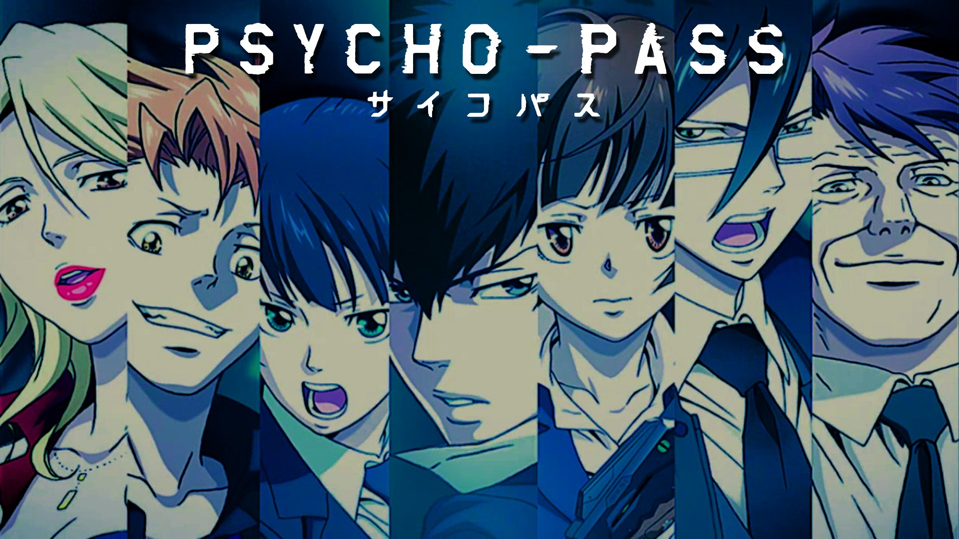 Psycho Pass Main Members Faces Hd Wallpaper Background Image