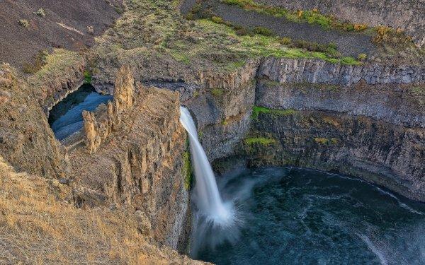Earth Waterfall Waterfalls Creek Rock HD Wallpaper | Background Image