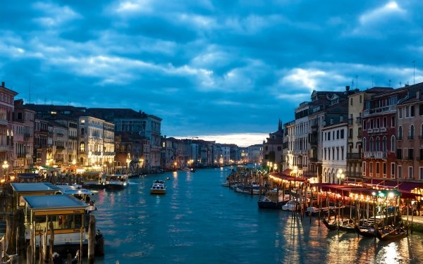 Man Made Venice Cities Italy Night HD Wallpaper | Background Image