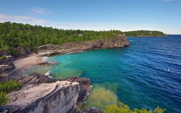 Earth Coastline Seascape HD Wallpaper | Background Image