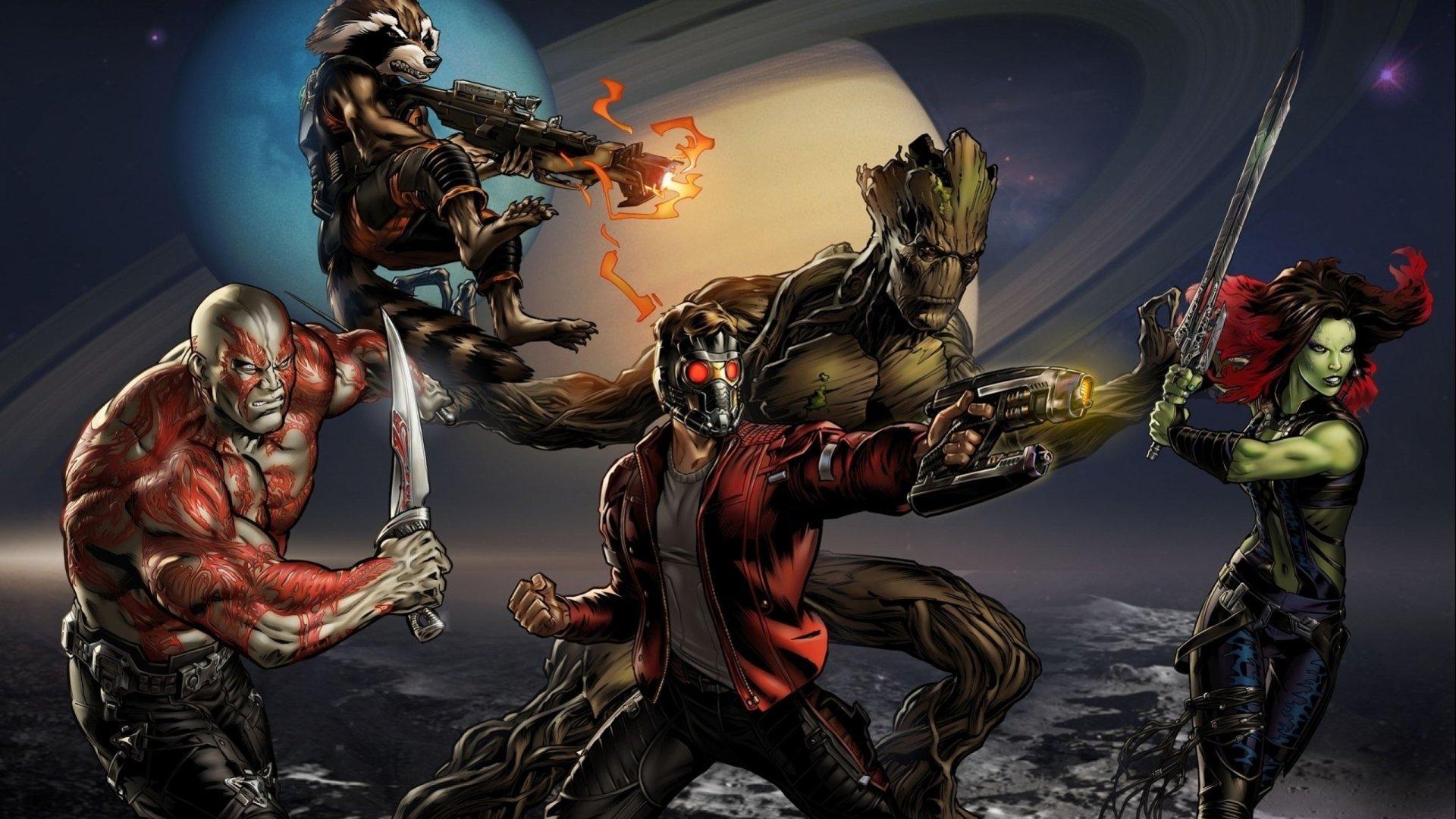 Comics - Guardians Of The Galaxy  Gamora Drax The Destroyer Comics Galaxy Marvel Comics Star Lord Comic Rocket Raccoon Groot Wallpaper