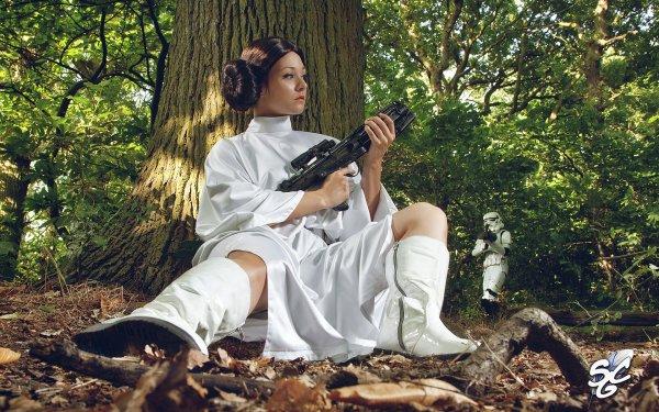 Women Cosplay Princess Leia Star Wars HD Wallpaper | Background Image