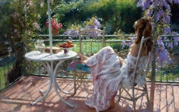 Artistic Painting Table Fruit Summer HD Wallpaper | Background Image