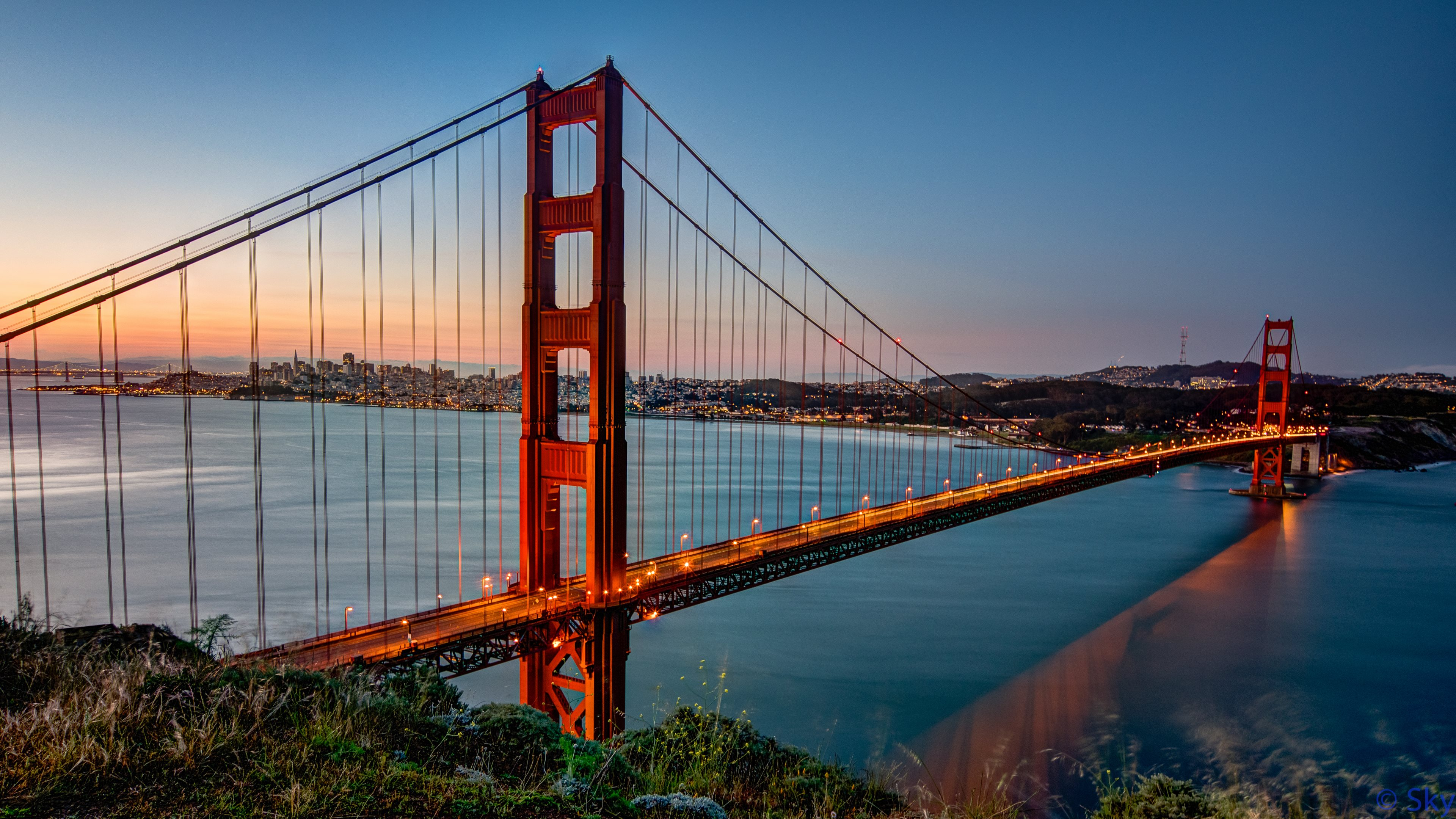 sunrise pictures golden gate - HD3840×2160