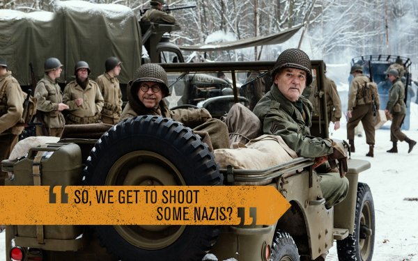 Movie The Monuments Men Monuments Men Bill Murray War Army HD Wallpaper | Background Image