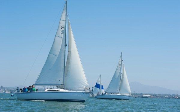 Vehicles Sailboat Boat Sailing Yacht Water HD Wallpaper | Background Image