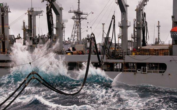 Military USNS Yukon (T-AO-202) Warships Ship USNS Yukon Navy Marines Replenishment Oiler Replenishment HD Wallpaper   Background Image