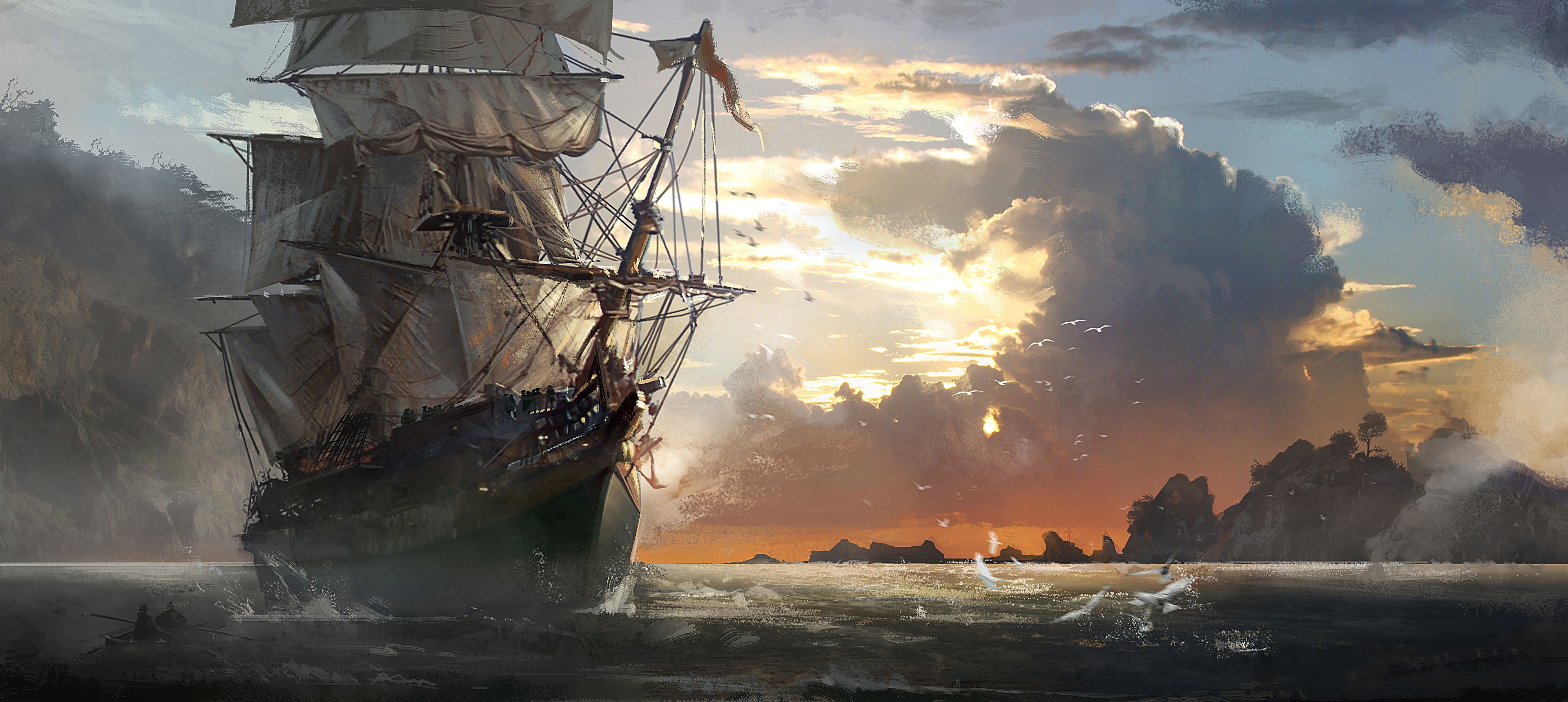 128 Assassin S Creed Iv Black Flag Hd Wallpapers Background
