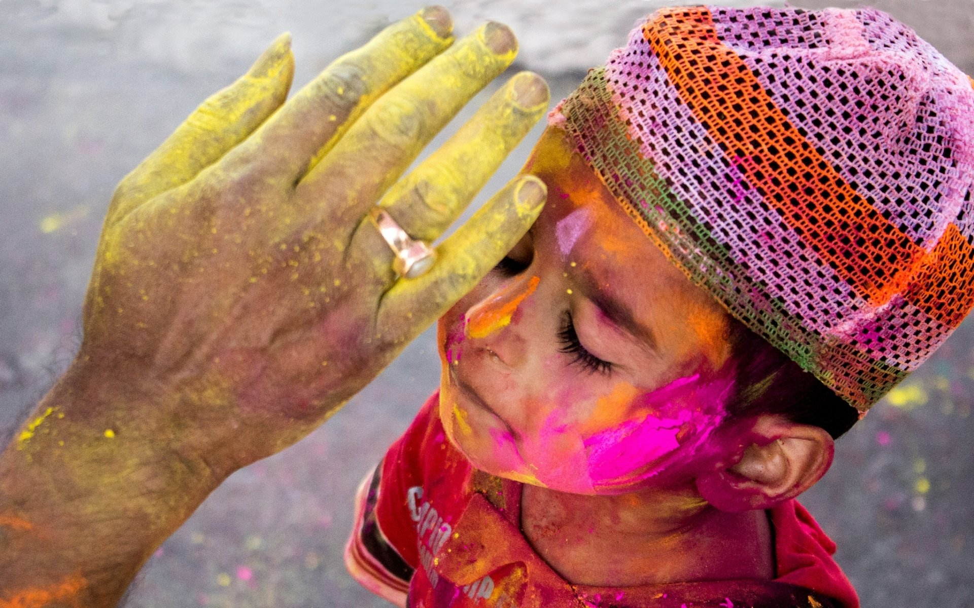 Holiday - Holi  Colors Hand Child Boy Wallpaper